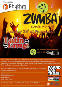Rhythmsports Zumba Special Workout Flyer
