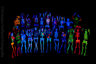 Blacklight Bodypaint Skelet Project